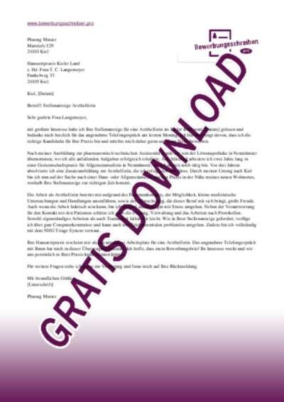 bewerbungsschreiben arzthelferin - Bewerbung Als Arzthelferin